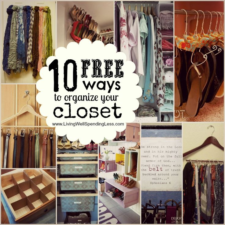 10 FREE ways to organize your closet + an awesome closet organizing checklist.  These are great!