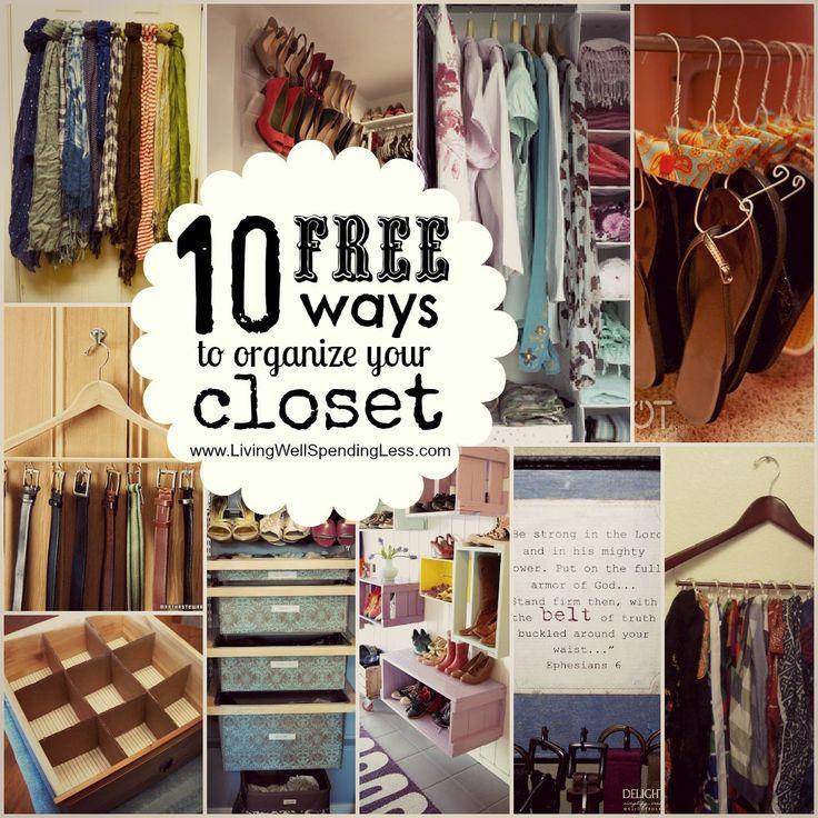10 FREE ways to organize your closet
