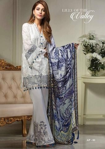 Anaya Embroidered Lawn Suit - Replica Suits - diKHAWA Online Shopping in Pakistan