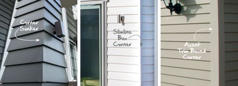 Corner Options for finishing off the edging of your Linea Weatherboard cladding #jameshardie #eavesandsoffits #lineaweatherboard