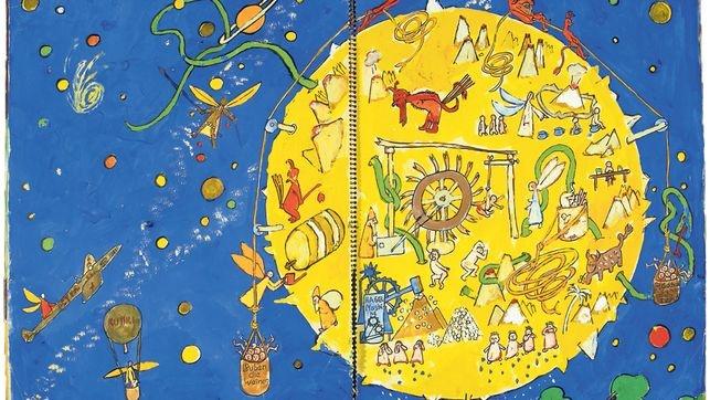Was Dürrenmatt für Kinder malte  Friedrich Dürrenmatt malte für seine Kinder phantasievolle Bildergeschichten. Ein Spiralheft, das bis anhin im Centre Dürrenmatt aufbewahrt wurde, liegt jetzt als grossformatiges Buch vor.