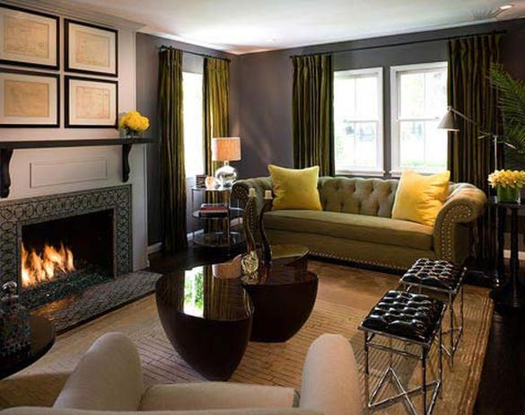 Unusual color scheme - Artistic Walls - Fireplace Decor: Hearth Design Tips on HGTV