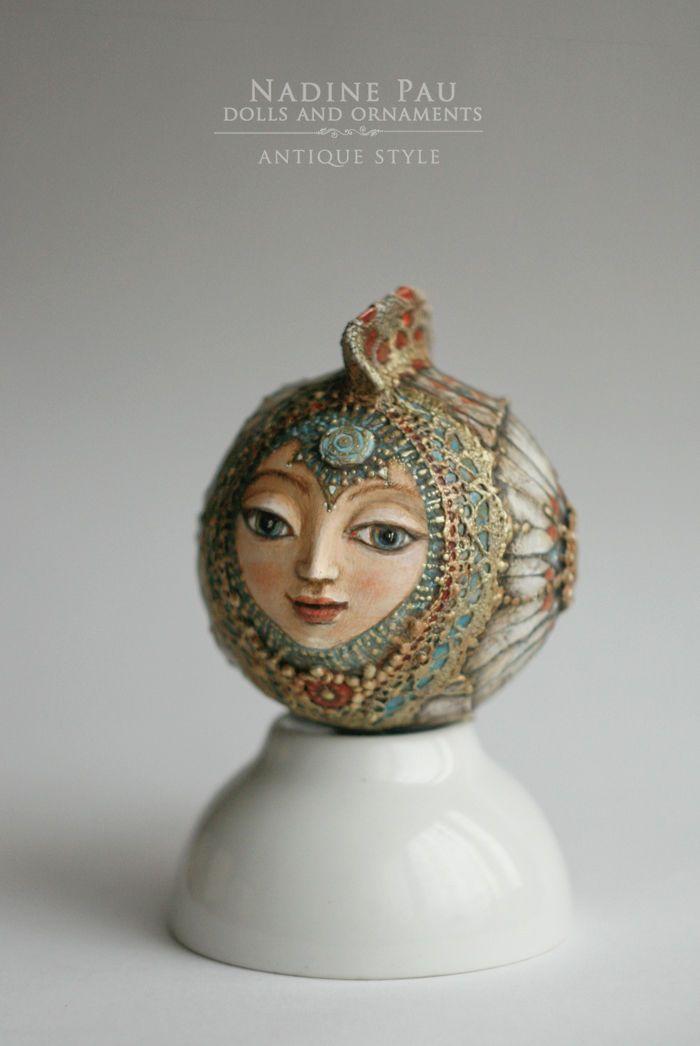 Надежда Шахристенберг (nadinepau) Белая Рыбка, елочная игрушка
