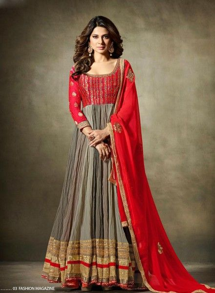 Abaya style Grey & Red anarkali frock  https://www.gravity-fashion.com/abaya-style-wedding-wear-indian-anarkali-frock-in-grey-red-n17249.html