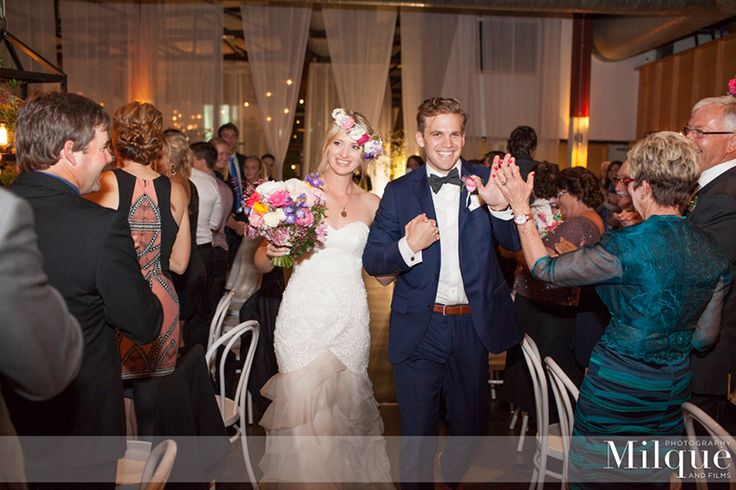 Alicia + Daniel colour popping wedding full of bright bright florals. Photography by Milque Photography