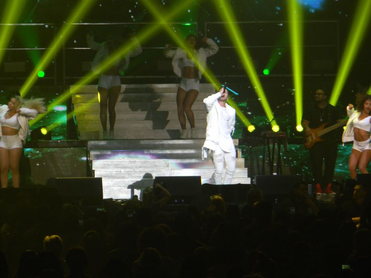 """Prince Royce:The Bad Man Tour on Friday August 5 2016 Allentown PA. The 2nd time my family see Pitbull in Concert. Epic and Amazing like our first time. """"Don't Stop The Party!"""" Pitbull, Prince Royce, Farruko and Fuego."""