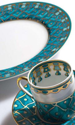 Morning one cup empty. IsaRtfulfairytale.  Petrouchka blue - Russian design, Petrouchka by J. Seignolles