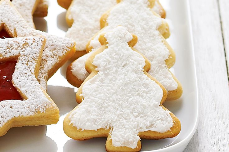 These sweet Christmas tree biscuits will get your festive season off to a great start.