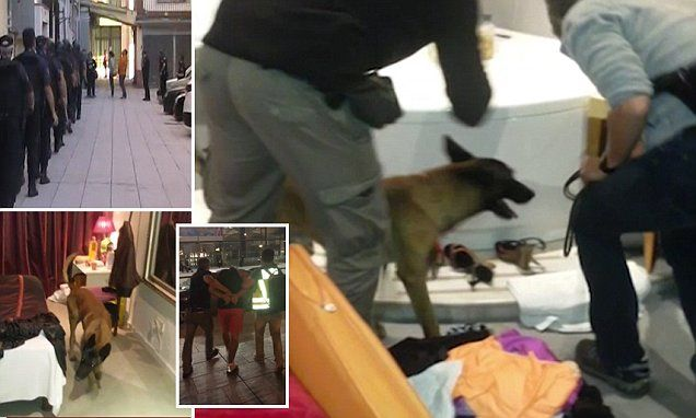 Luxury strip clubs disguised as HOTELS raided on Costa del Sol
