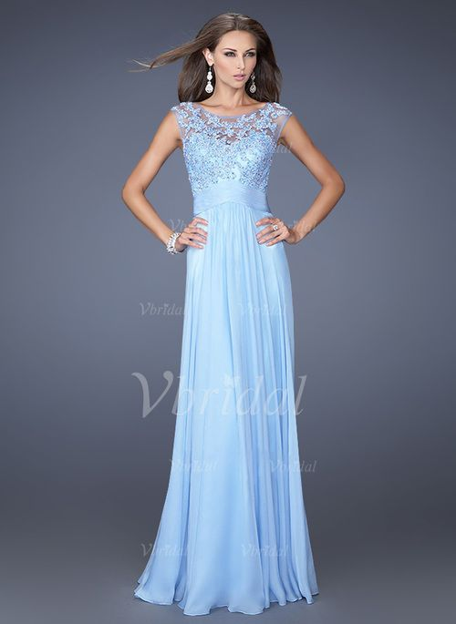Mother of the Bride Dresses - $137.23 - A-Line/Princess Scoop Neck Floor-Length Chiffon Mother of the Bride Dress With Lace Appliques Lace (0085059866)