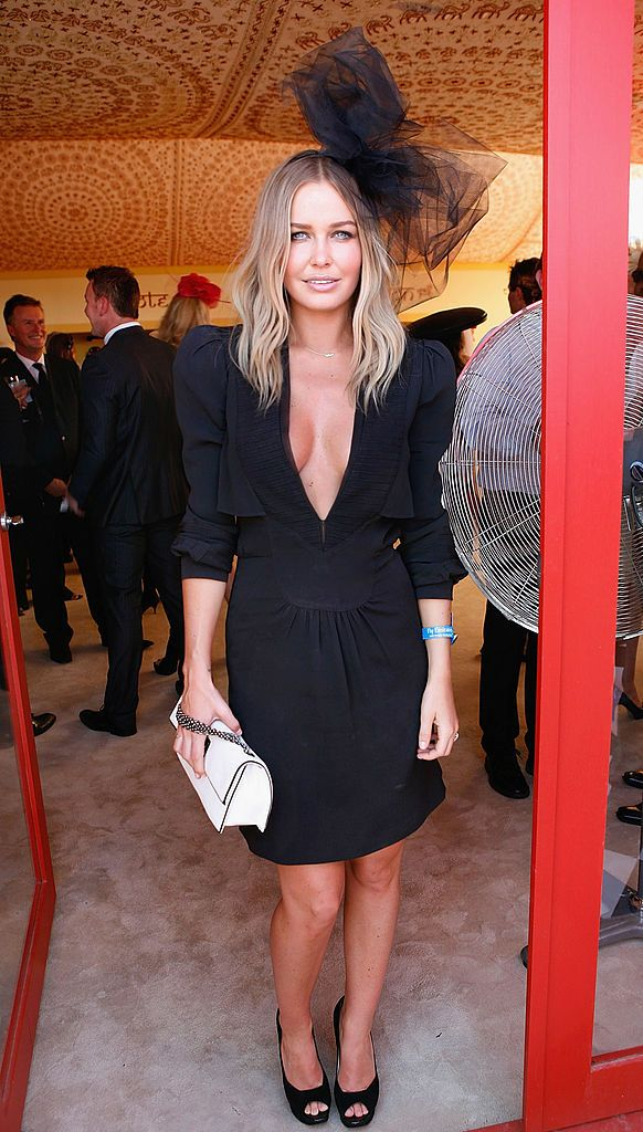 celebrities at the races. Lara Bingle