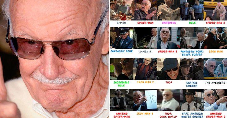 Aquí te dejamos 20 cameos (no son todos) de Stan Lee en estas grandes películas del universo Marvel. Algunos son muy divertidos... ¿Los conocías todos?