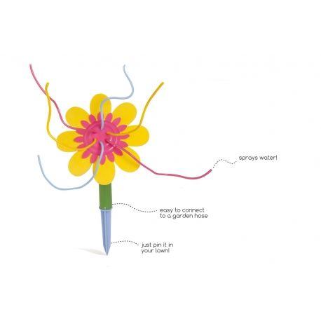 Flor de agua. Juego de agua y al aire libre