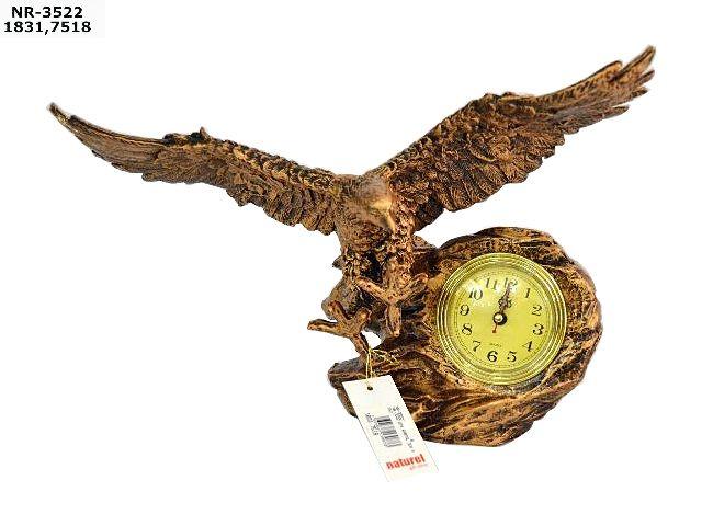 Dekoratif Kartal Masa Saati  Ürün Bilgisi  Ürün maddesi : Polyester Kartal Dekoratif Masa Saati  Şık ve Kaliteli işçilik