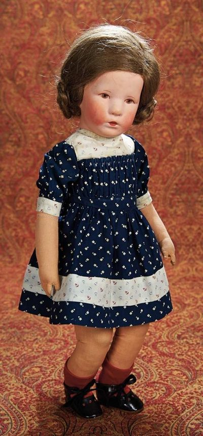 Home At Last - Antique Doll and Dollhouses: 97 German Cloth Pouting Character by Kathe Kruse