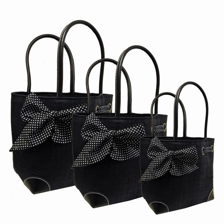 Women's Black #Baskets with adorable bows with stars.