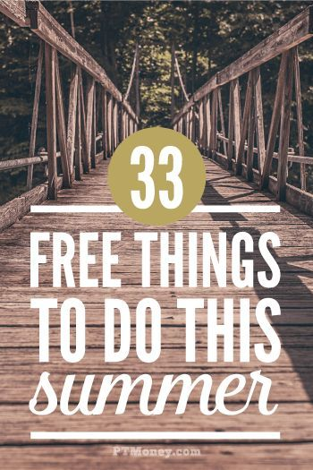 Summer is right around the corner! Keep this list handy so you'll have plenty to do and you can keep your kids busy. The best part is every idea is FREE. http://ptmoney.com/free-things-to-do-in-the-summer/