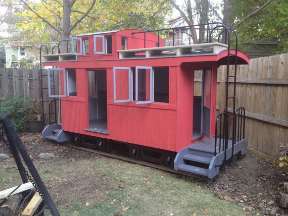 Caboose Playhouse built with quality to last for by Russellbilt