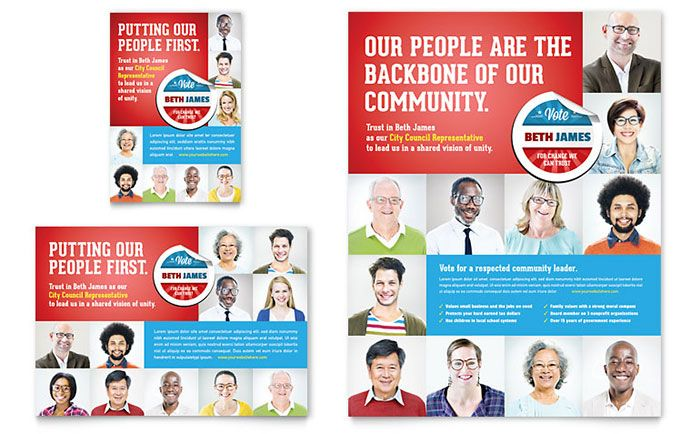 Political Candidate Flyer and Ad Design Template by StockLayouts ...