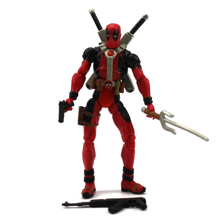 Deadpool Action Figure Classic Suit Red Movie Series 4 Inches //Price: $16.99 & FREE Shipping //     #civilwar