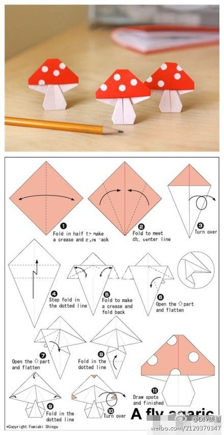 OrigamI mushrooms.....I'm not REAL good at origami butttt, I'm gonna have to try to make these honeys!!!