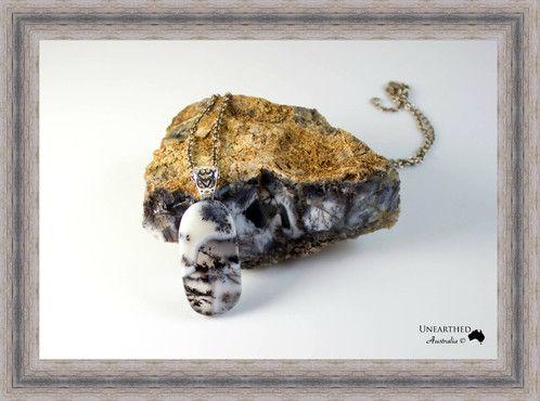 Dendritic Opal Oblong Pendant SKU: UA167 AU$45.00