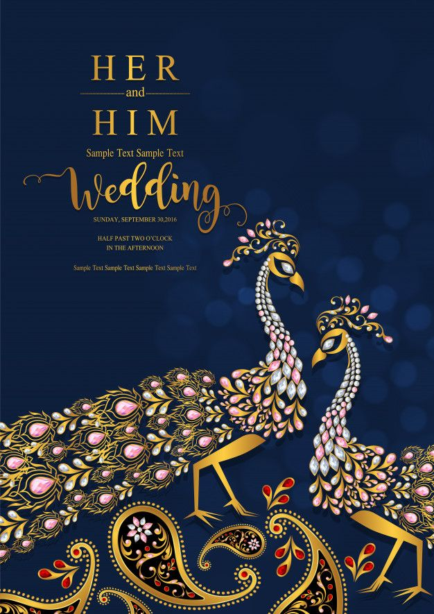 Indian Wedding Invitation Card Templates Premium Vector In