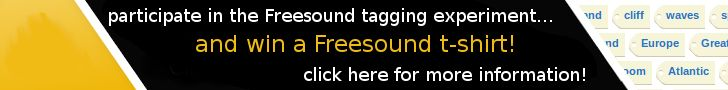 Freesound is a collaborative database of Creative Commons Licensed sounds.