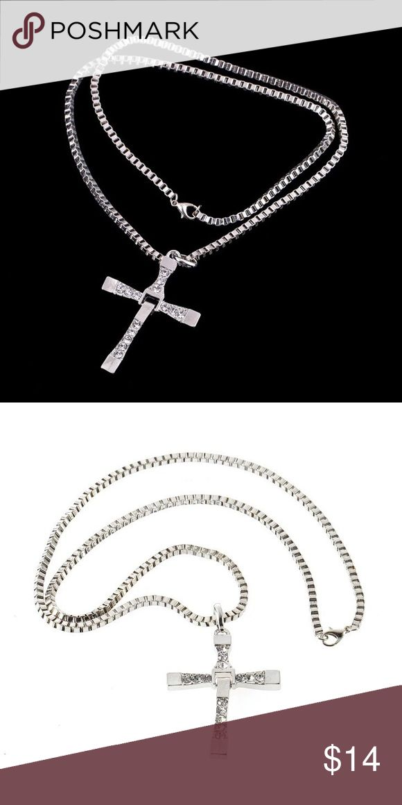 Men's cross necklace Silver plated cross necklace Jewelry Necklaces