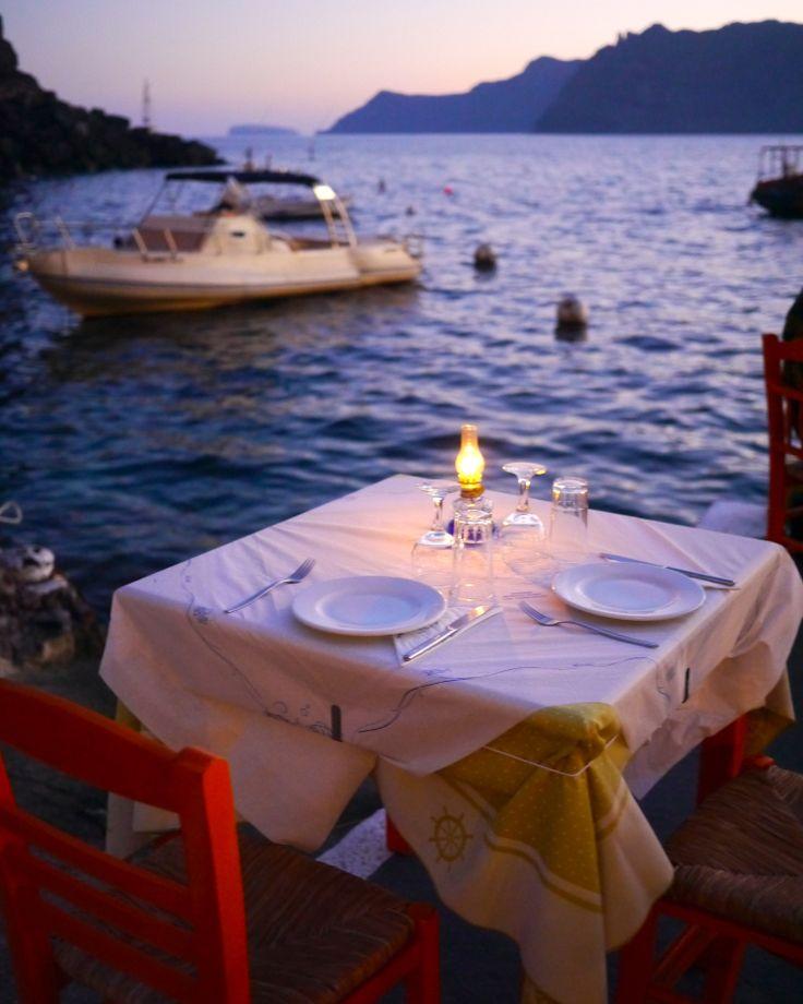 Sunset Restaurant, Amoudi Bay Santorini, Greece Oia Romantic Restaurants Where Chefs Eat