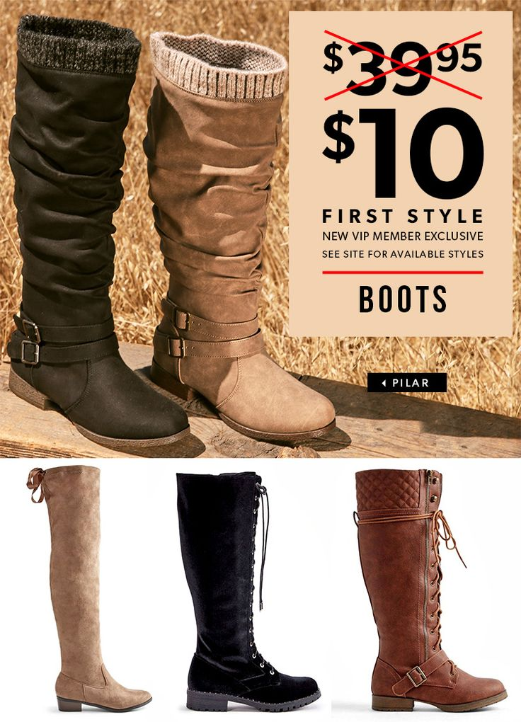 December Deals are In! - Get Your First Pair of Boots for Only $10! Take  the 60 Second Style Quiz to get this exclusive offer! | Boot Season!!!