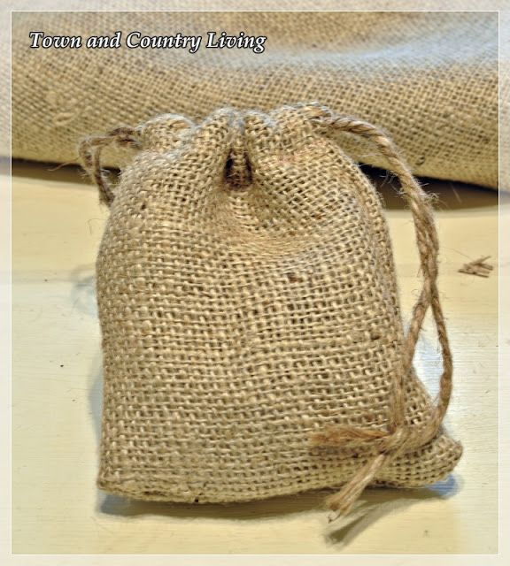 How to Make Little Burlap Bags - Town & Country Living