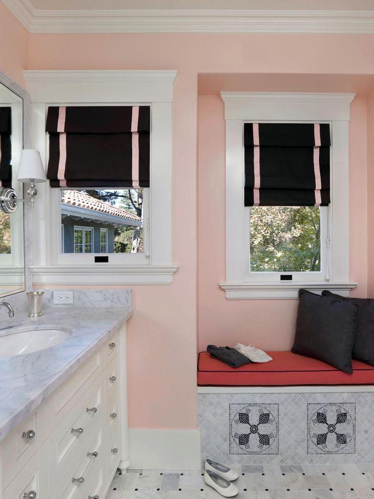 Tratamentos da janela banheiro para privacidade | Tratamentos da janela - Idéias para cortinas, estores, sanefas | HGTV