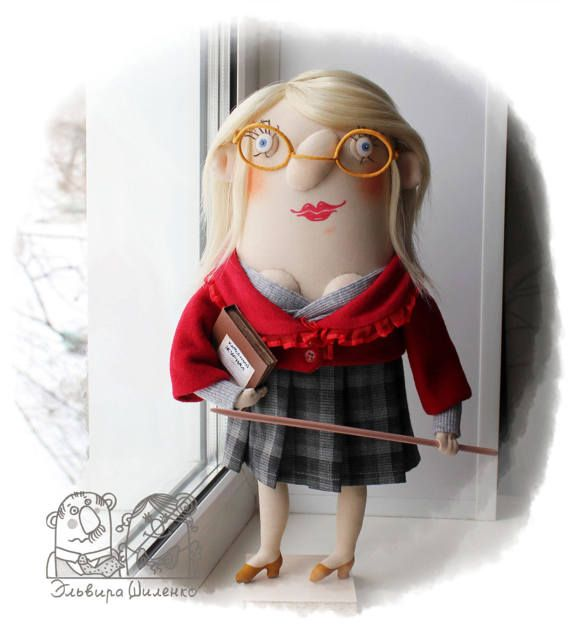 Hey, I found this really awesome Etsy listing at https://www.etsy.com/ru/listing/502406908/textile-doll-the-teacher