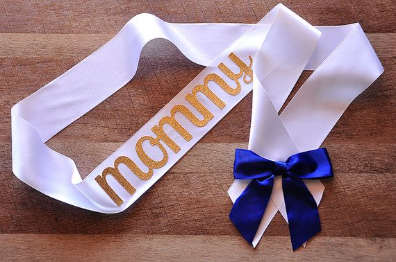 The mommy-to-be will love this sash for her royal prince baby shower!