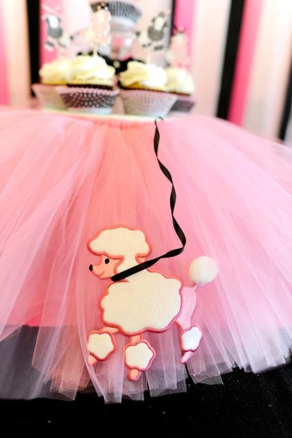 Poodle skirt table could also be great for a 50s party