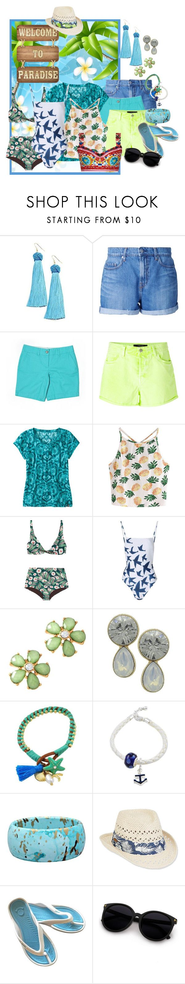 """Paradise"" by shoppe23 on Polyvore featuring Vanessa Mooney, Nobody Denim, LOFT, J Brand, Title Nine, WithChic, Dolce&Gabbana, Mara Hoffman, Caribbean Joe and Summer"