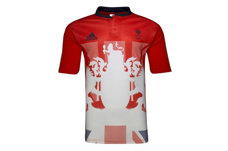 adidas Team GB 2016 Olympics Home Kids S/S Rugby Shirt