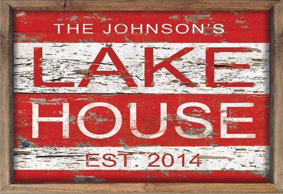 Custom lake house sign personalized lake house by DesignHouseDecor