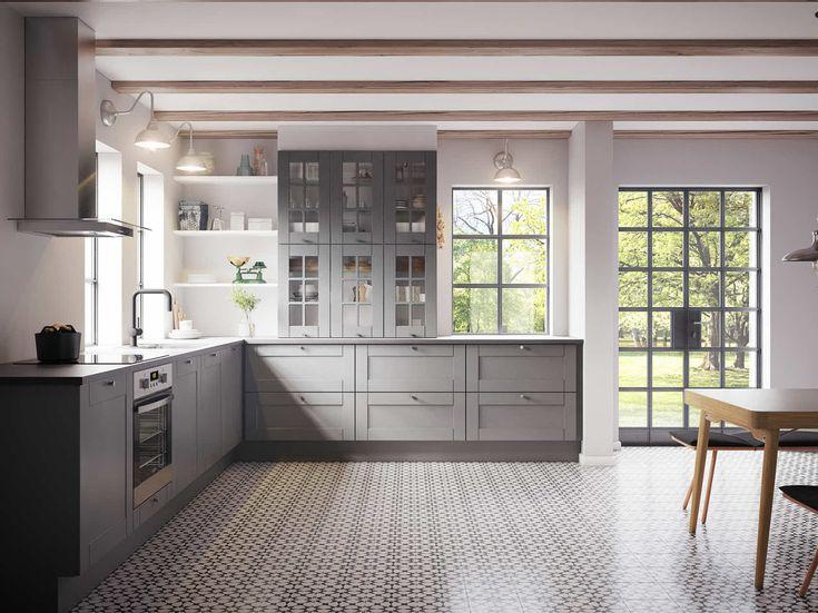 kvik køkken grå