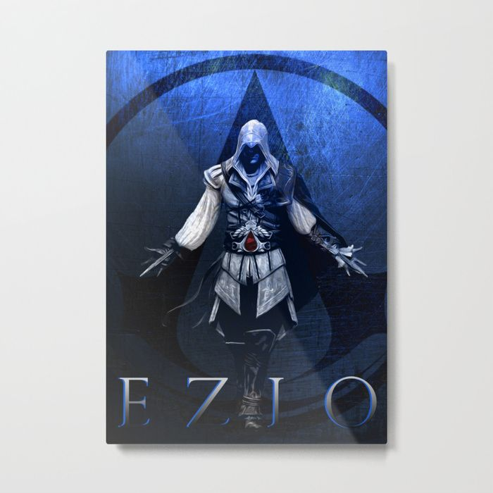 25% Off Art Prints, Tapestries and All Wall Art With Code: LETSHANG Buy Assassin's Creed Ezio Large Poster Metal Print by scardesign. #assassinscreedposter #gaming #gamer #ezioauditore #sepia #badass #kids #kidsroom #popular #art #artist #design #modern  #sale #sales #discount #posters #gifts #giftideas #homegifts #39 #wallart #livingroom #decoration #home #homedecor #cool #awesome #giftsforhim #giftsforher #society6