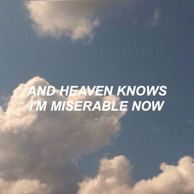 the smiths - heaven knows I'm miserable