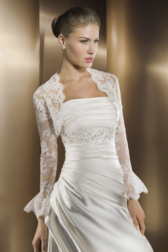 Cheap Bolero Lace Buy Quality Jacket Evening Directly From China Rain Suppliers Custom Made Wedding Bridal Shrug Long