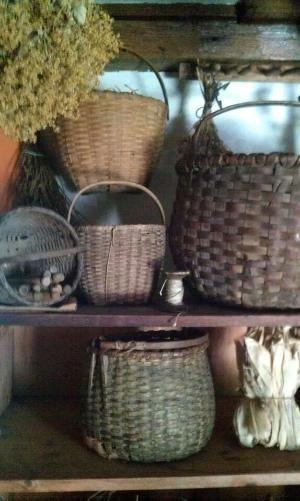 Primitive baskets by minnie