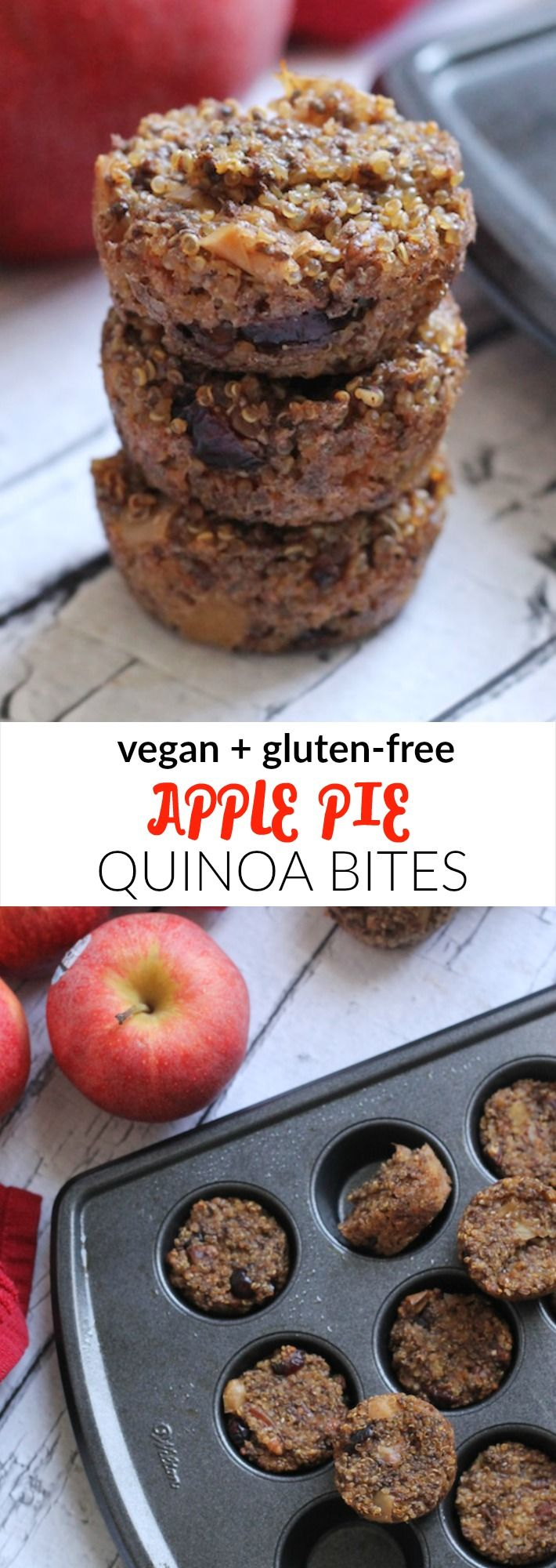 Apple Pie Quinoa Bites...wonder how I might switch up some ingredients and pin it to my zero carb board!
