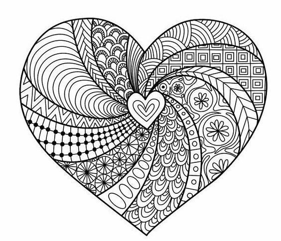 Coloring For Adults Adults Coloring Coloring Pages Mandala Design Art Heart Coloring Pages