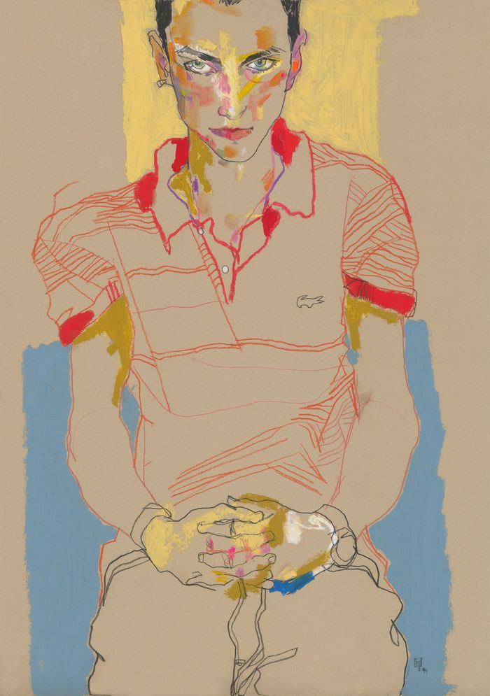 Egon Schiele-like; Howard Tangye