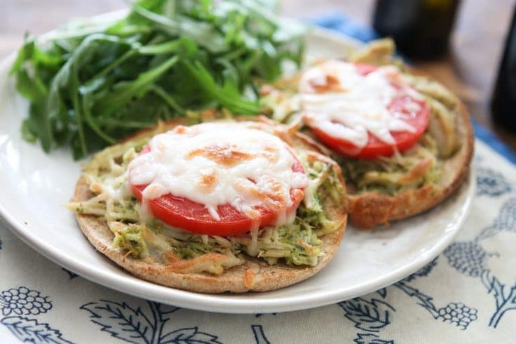 Slow Cooker Pesto Chicken Melts Recipe Healthy Sandwich Recipes Slow Cooker Recipes