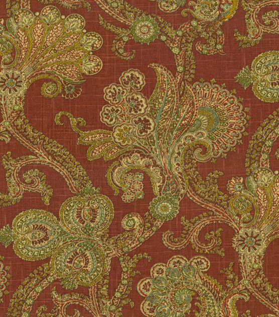 Home Decor Fabric Waverly Old World Charm Hidden Treasure Ruby