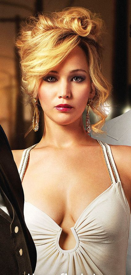 jennifer lawrence hair american hustle | love her hair and makeups!                                                                                                                                                                                 Más